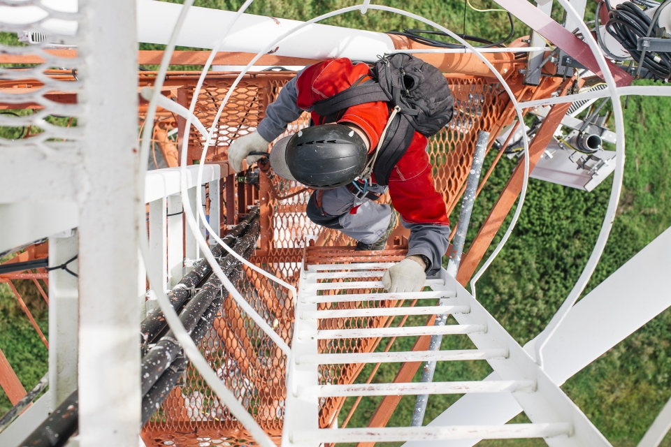 cell tower climber